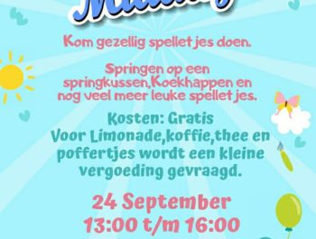 24 September is er weer een Kinder Middag